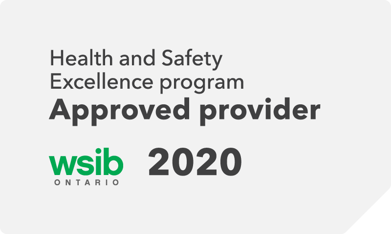 wsib excellence program approved provider