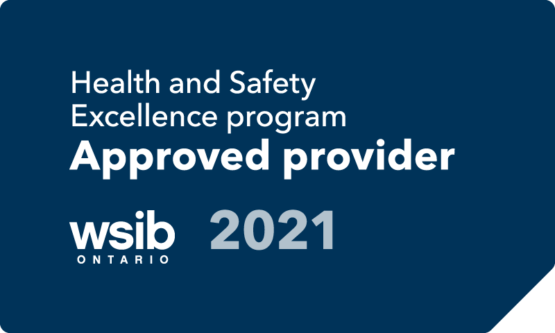 WSIB Health and Safety Excellence program approved provider 2021