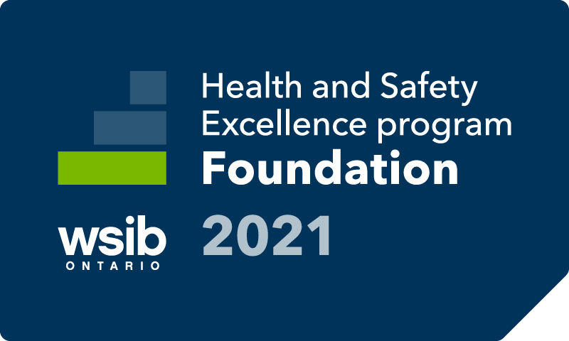 health and safety excellence program blue foundation level badge