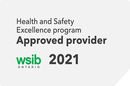 grey 2021 wsib excellence program approved provider badge